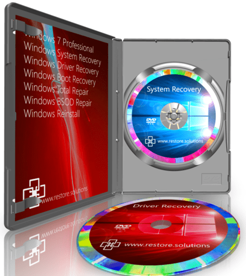 Restore Solutions Windows 7 recovery media retail box