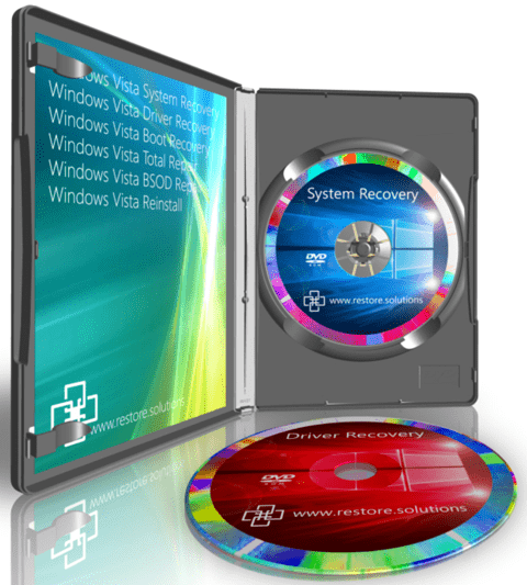 Restore Solutions Windows Vista recovery media retail box