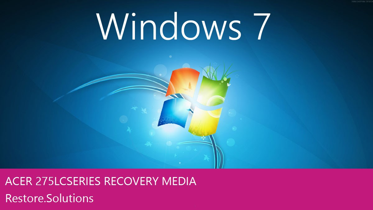 Acer 275LC Series Windows® 7 screen shot