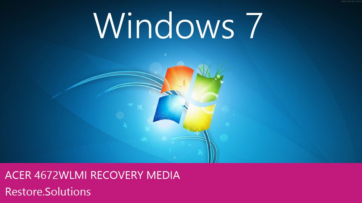 Acer 4672WLMi Windows® 7 screen shot