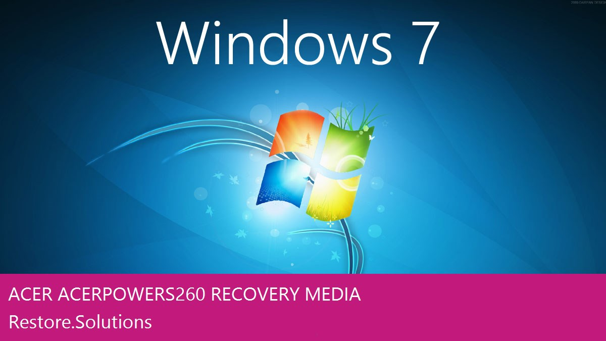 Acer AcerPower S260 Windows® 7 screen shot