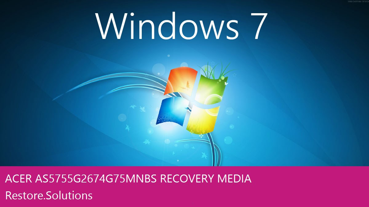 Acer AS5755G-2674G75Mnbs Windows® 7 screen shot