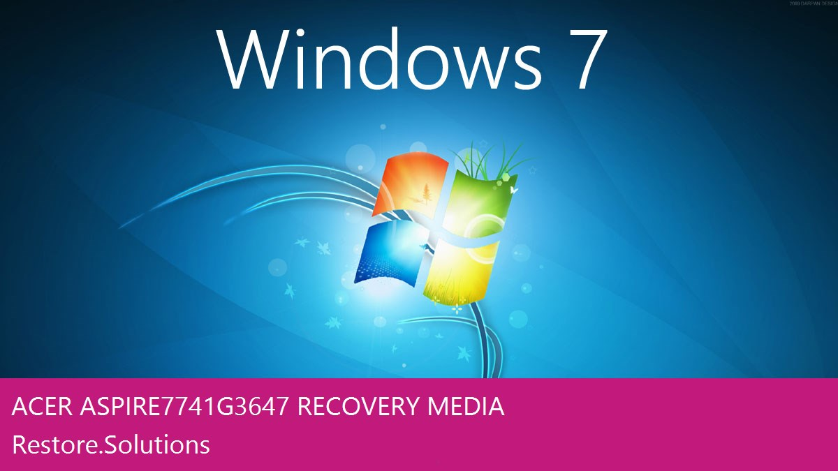 Acer Aspire 7741G-3647 Windows® 7 screen shot