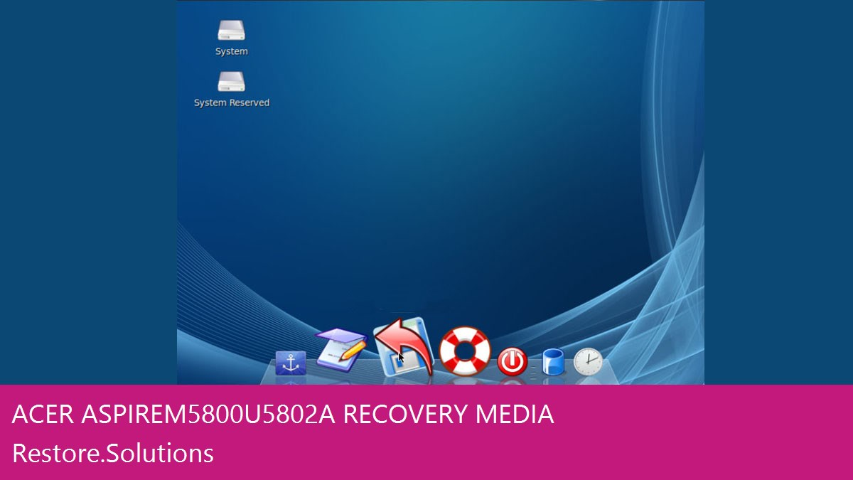 Acer Aspire M5800-U5802A data recovery