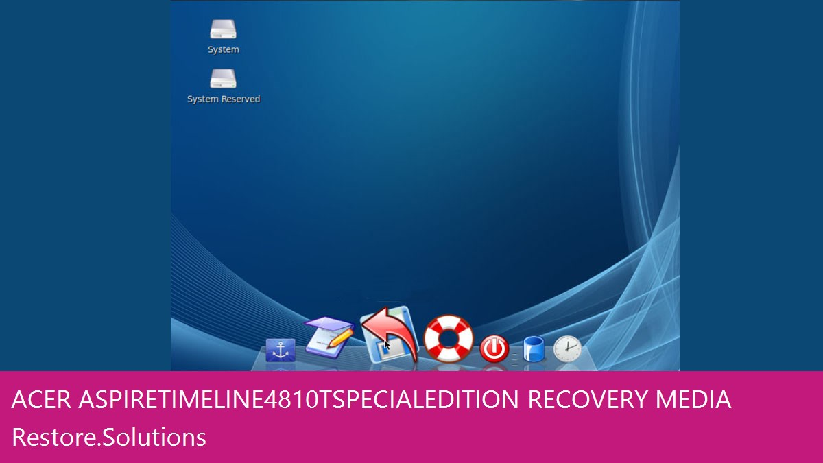 Acer Aspire Timeline 4810T Special Edition data recovery
