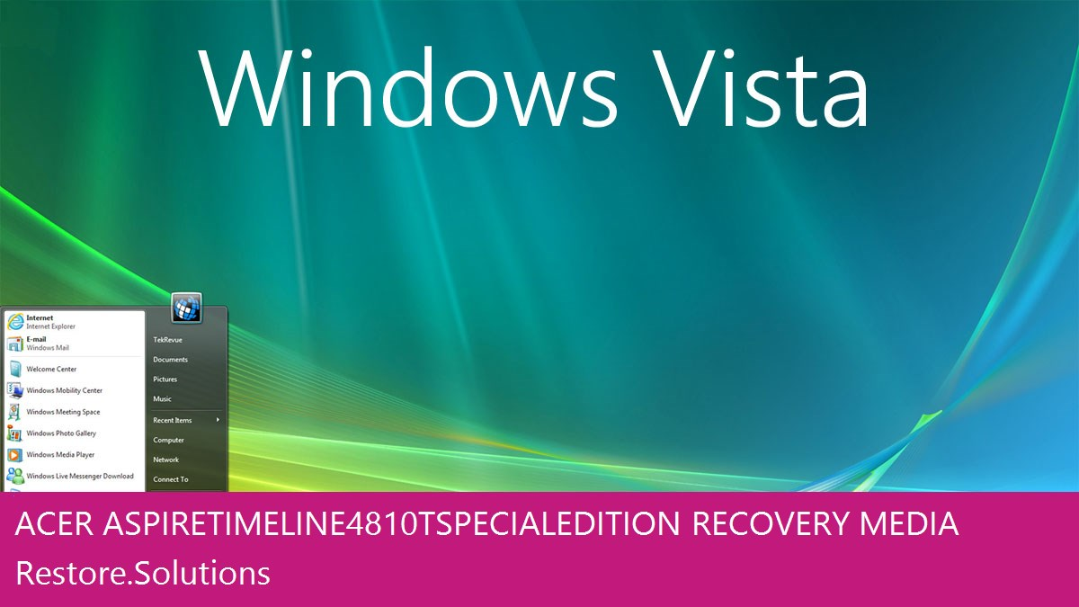 Acer Aspire Timeline 4810T Special Edition Windows® Vista screen shot