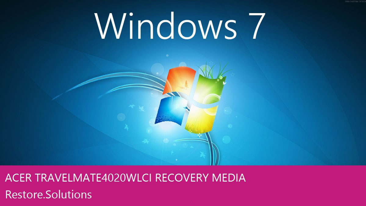 Acer TravelMate 4020WLCi Windows® 7 screen shot