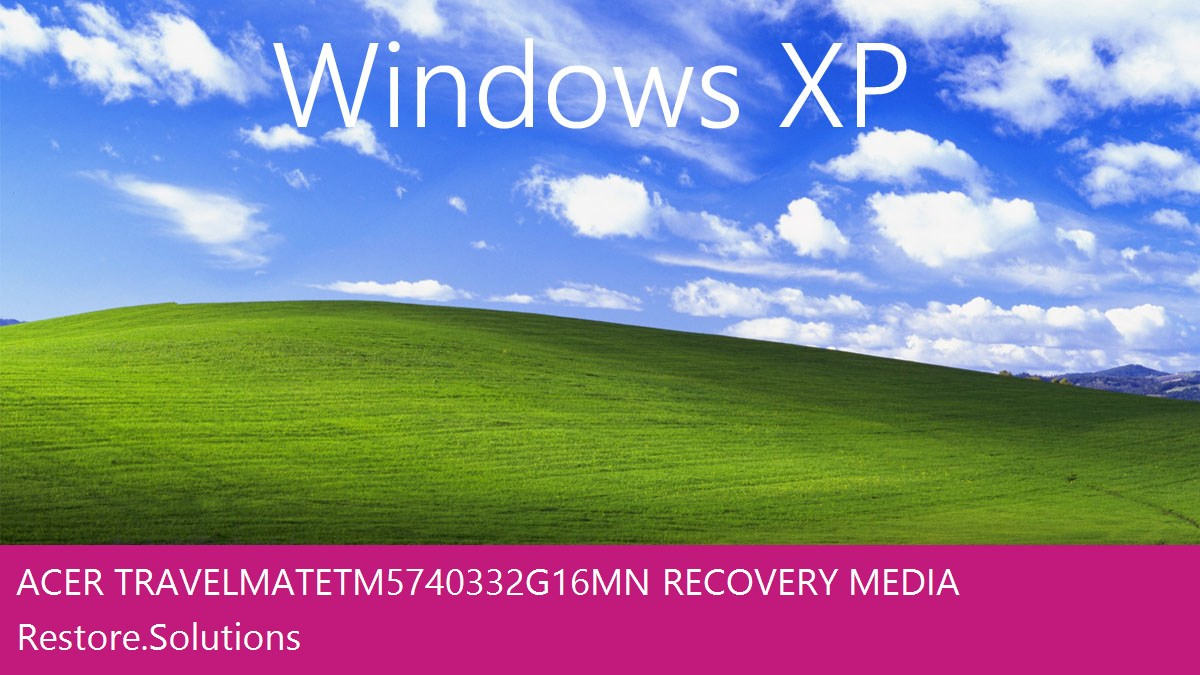 Acer TravelMate TM5740-332G16Mn Windows® XP screen shot
