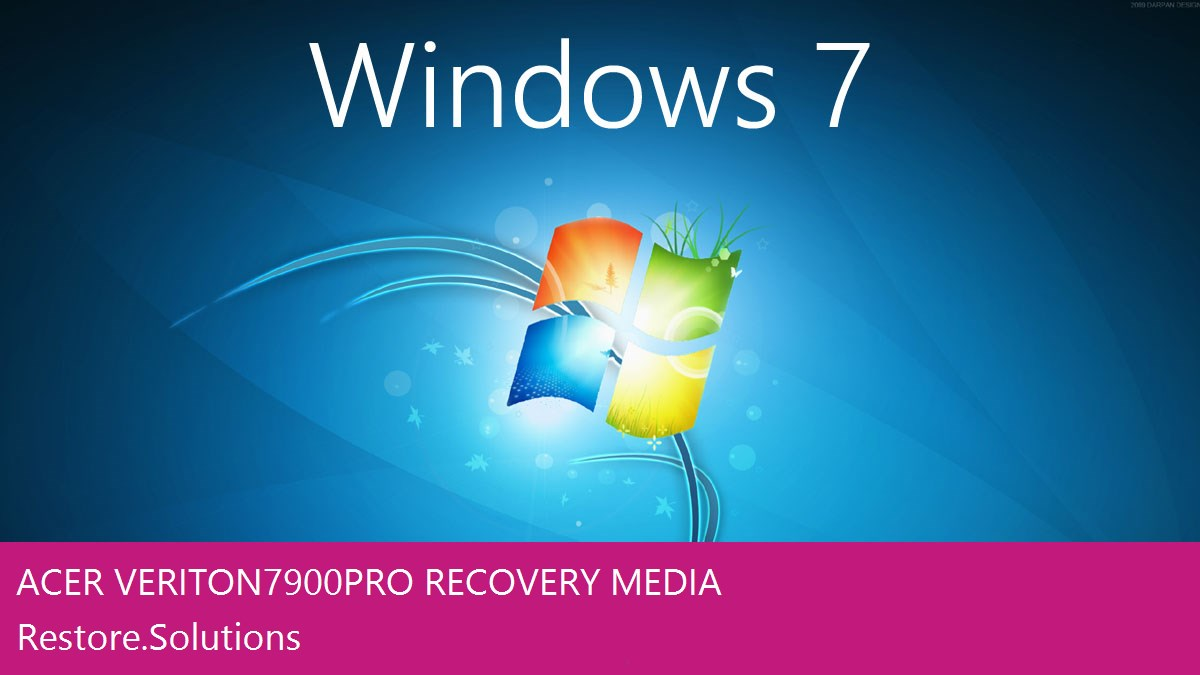 Acer Veriton 7900Pro Windows® 7 screen shot
