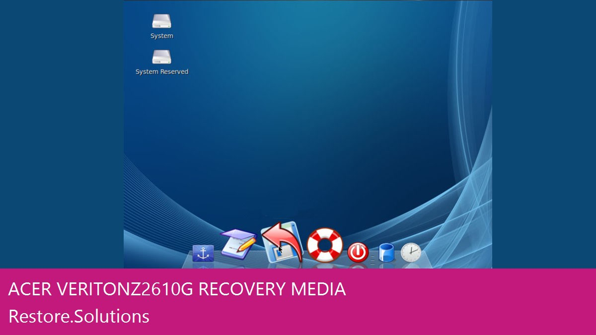 Acer Veriton Z2610G data recovery
