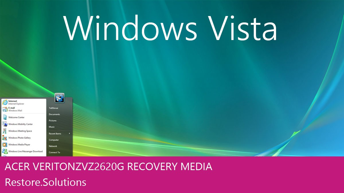 Acer Veriton Z VZ2620G Windows® Vista screen shot