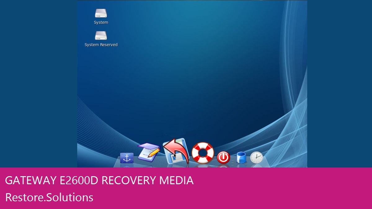 Gateway E-2600D data recovery