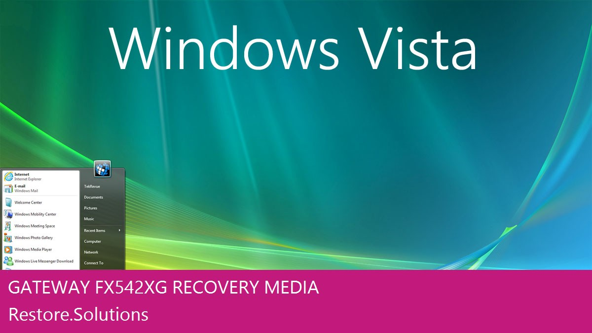 Gateway FX542XG Windows® Vista screen shot