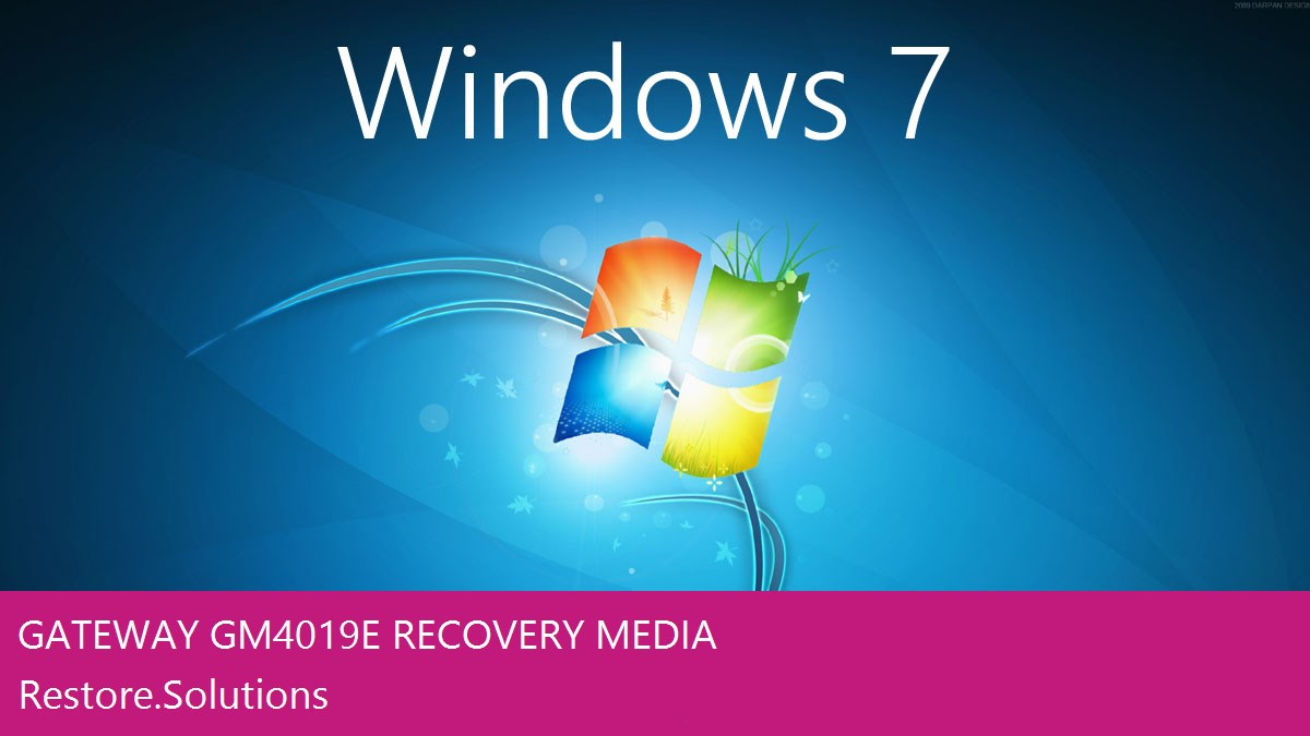 Gateway GM4019E Windows® 7 screen shot