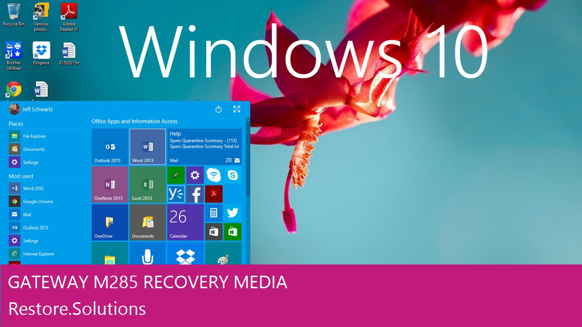 Gateway M285 Windows® 10 screen shot