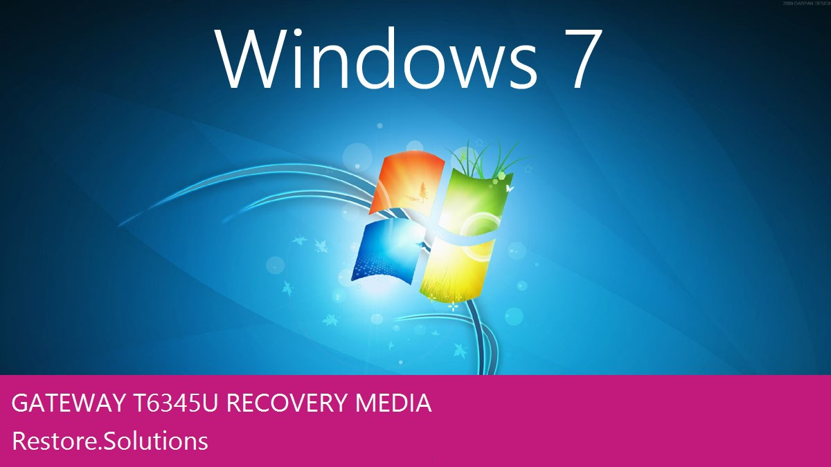 Gateway T-6345u Windows® 7 screen shot