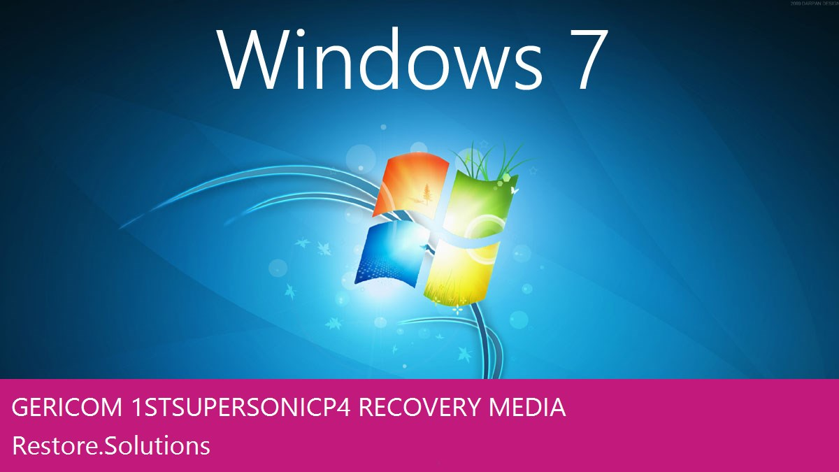 Gericom 1st Supersonic P4 Windows® 7 screen shot