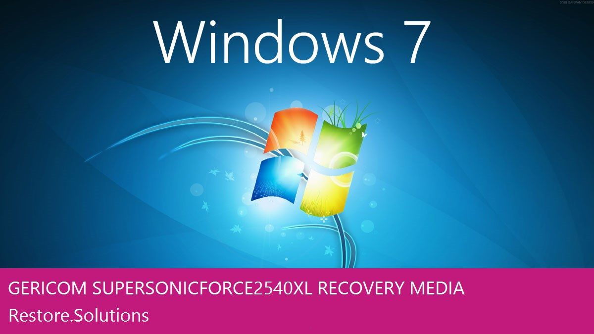 Gericom Supersonic Force 2540XL Windows® 7 screen shot