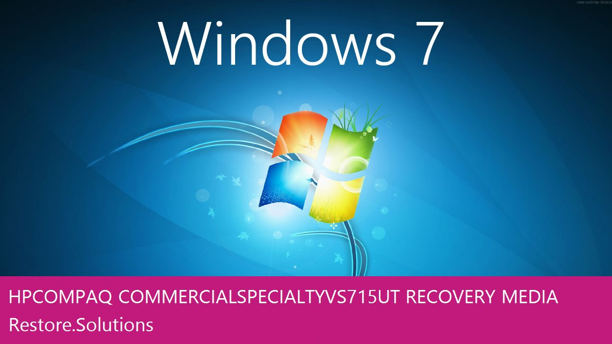 HP Compaq Commercial Specialty Vs715ut Windows® 7 screen shot