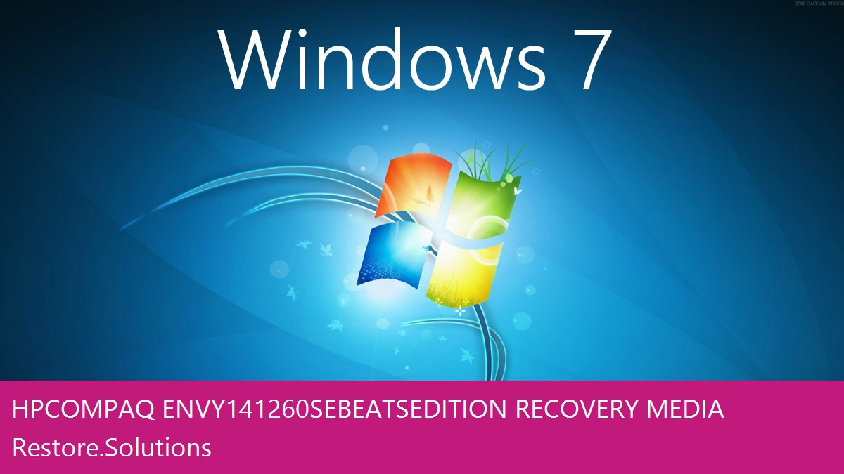 HP Compaq Envy 14-1260SE Beats Edition Windows® 7 screen shot