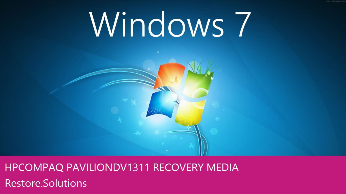 HP Compaq Pavilion DV1311 Windows® 7 screen shot