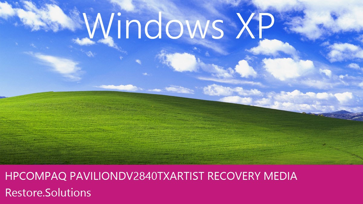 HP Compaq Pavilion dv2840tx Artist Windows® XP screen shot