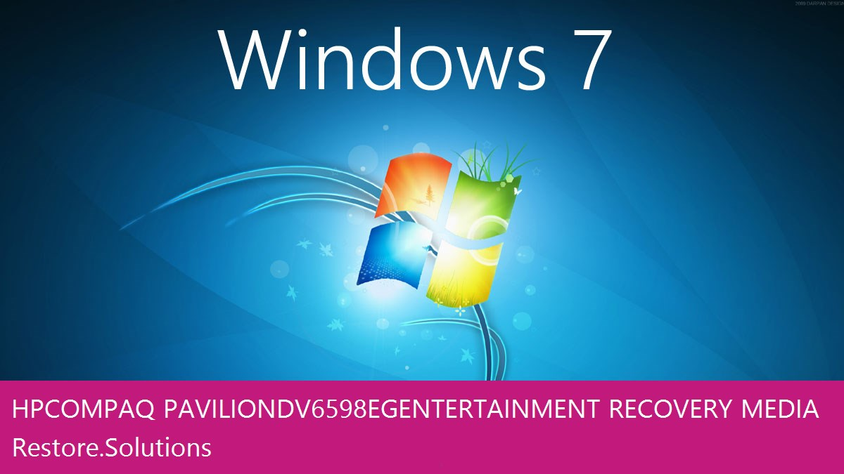 HP Compaq Pavilion dv6598eg Entertainment Windows® 7 screen shot