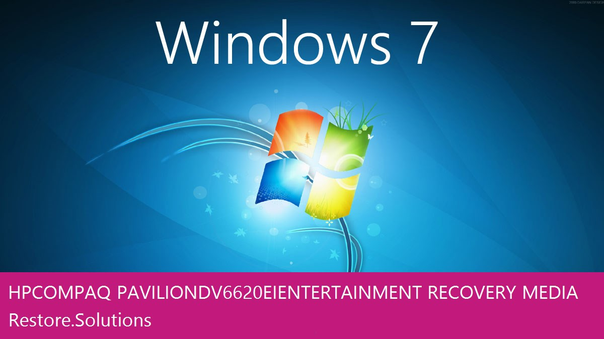 HP Compaq Pavilion dv6620ei Entertainment Windows® 7 screen shot