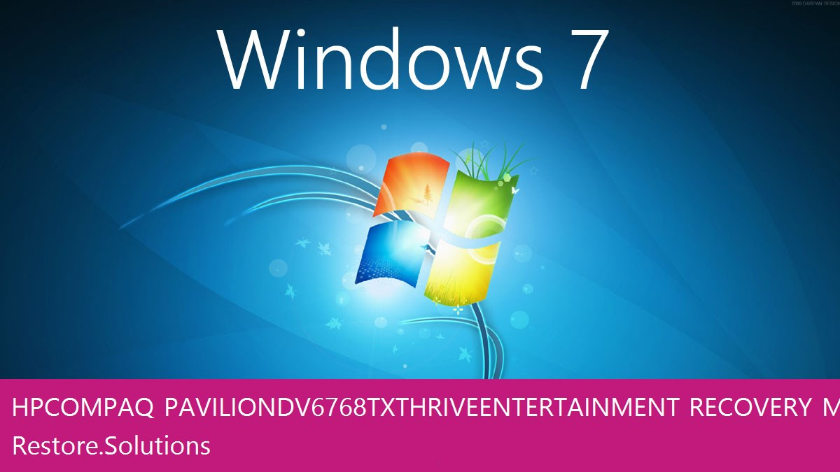 HP Compaq Pavilion dv6768tx Thrive Entertainment Windows® 7 screen shot