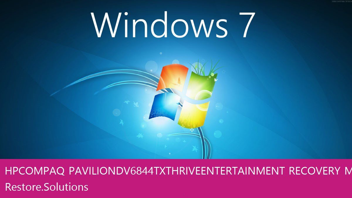 HP Compaq Pavilion dv6844tx Thrive Entertainment Windows® 7 screen shot
