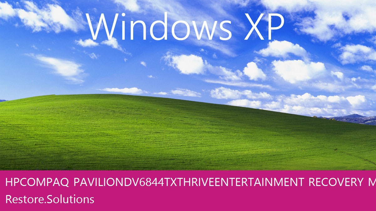 HP Compaq Pavilion dv6844tx Thrive Entertainment Windows® XP screen shot