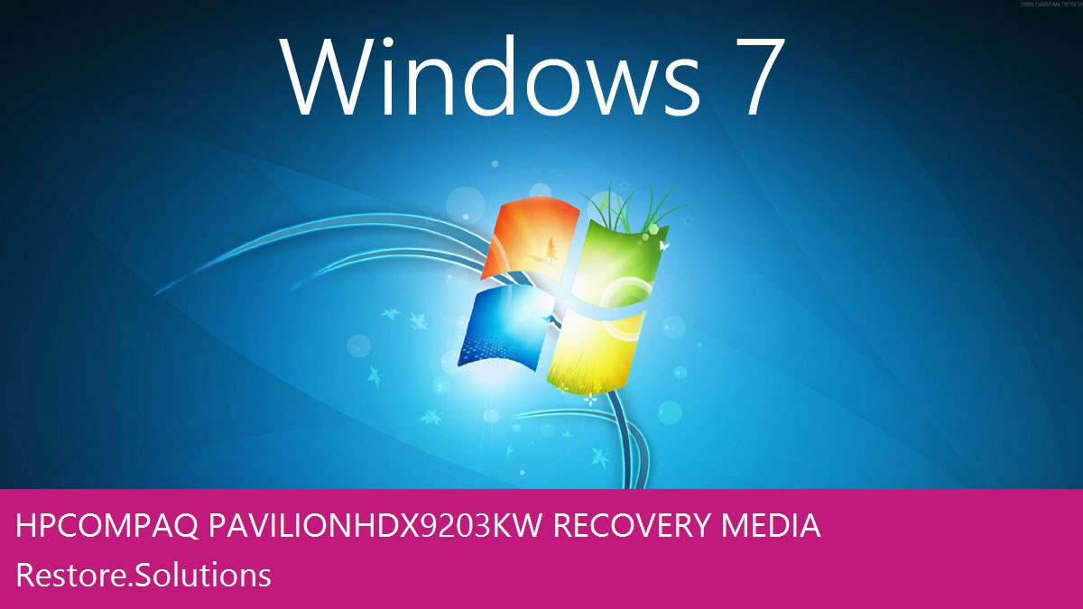 Hp Compaq Pavilion HDX9203KW Windows® 7 screen shot