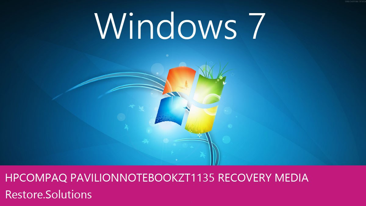 HP Compaq Pavilion Notebook ZT1135 Windows® 7 screen shot