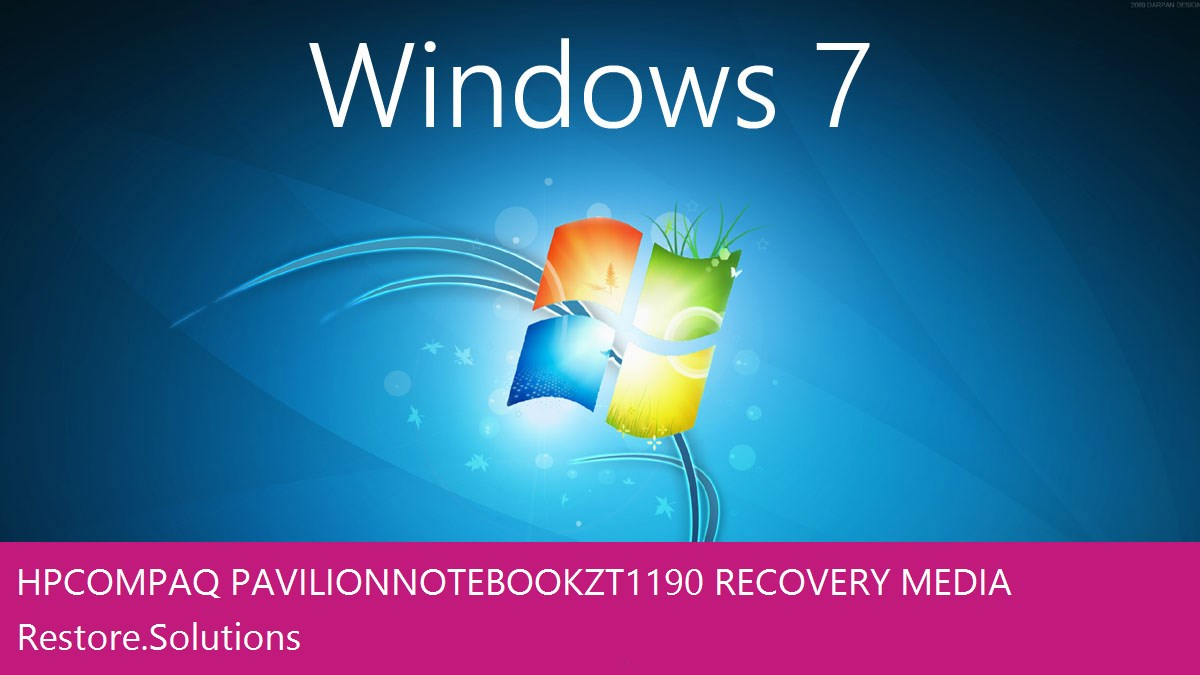 HP Compaq Pavilion Notebook ZT1190 Windows® 7 screen shot