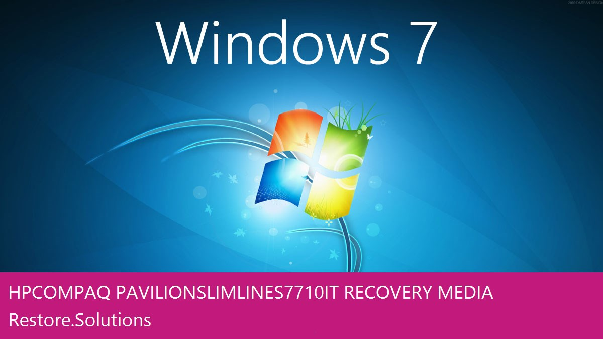 HP Compaq pavilion slimline s7710 it Windows® 7 screen shot