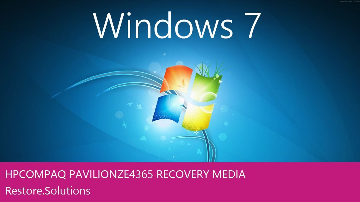 Hp Compaq Pavilion ZE4365 Windows® 7 screen shot