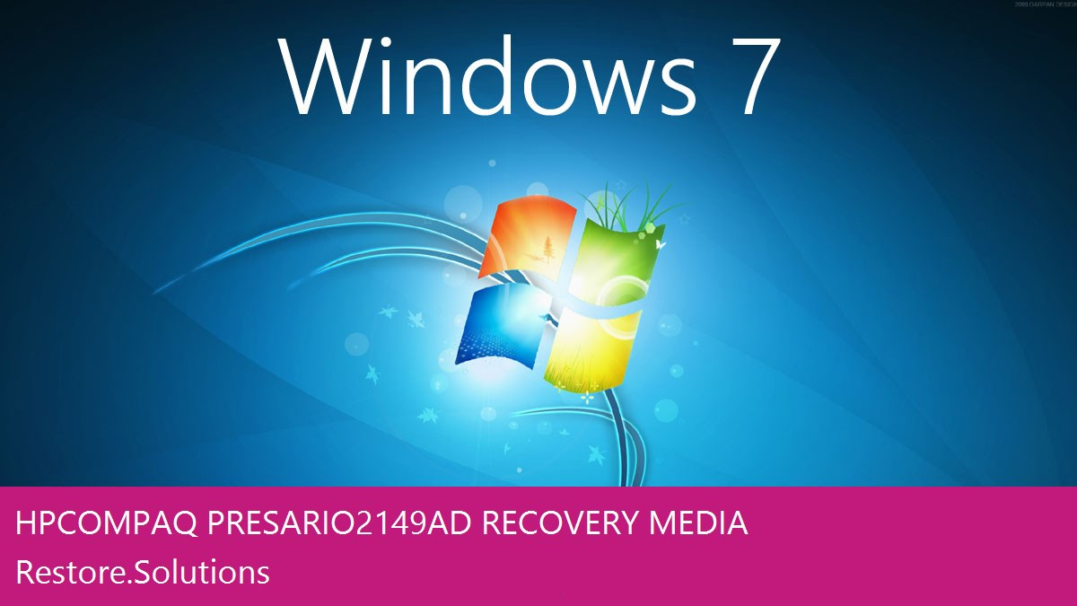 HP Compaq Presario 2149AD Windows® 7 screen shot