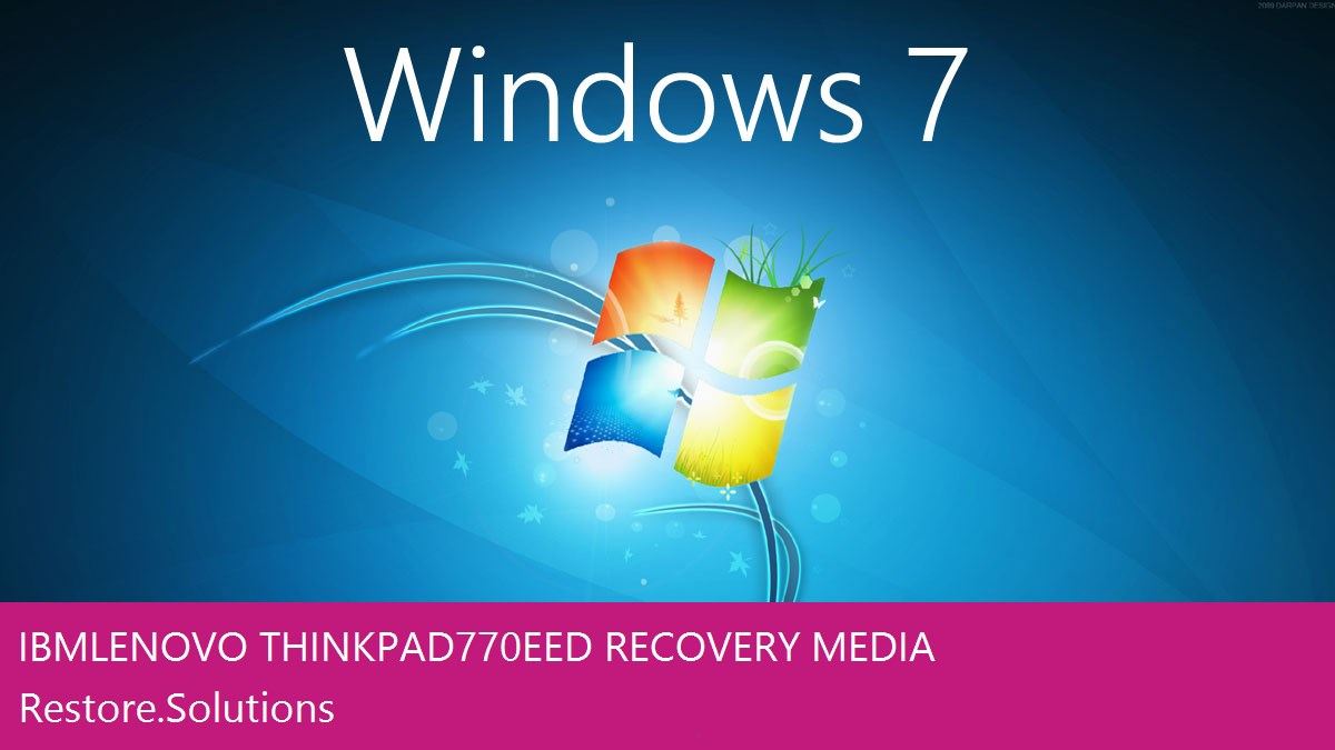 Ibm Lenovo ThinkPad 770EED Windows® 7 screen shot