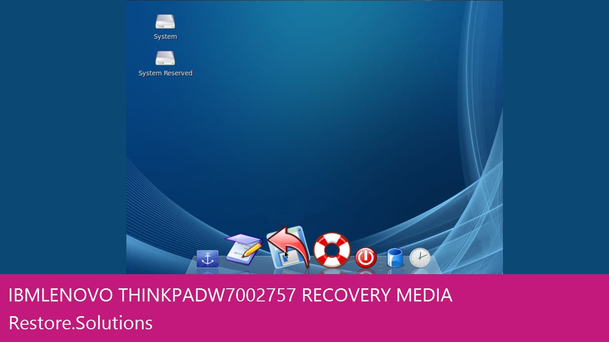IBM Lenovo ThinkPad W700 2757 data recovery