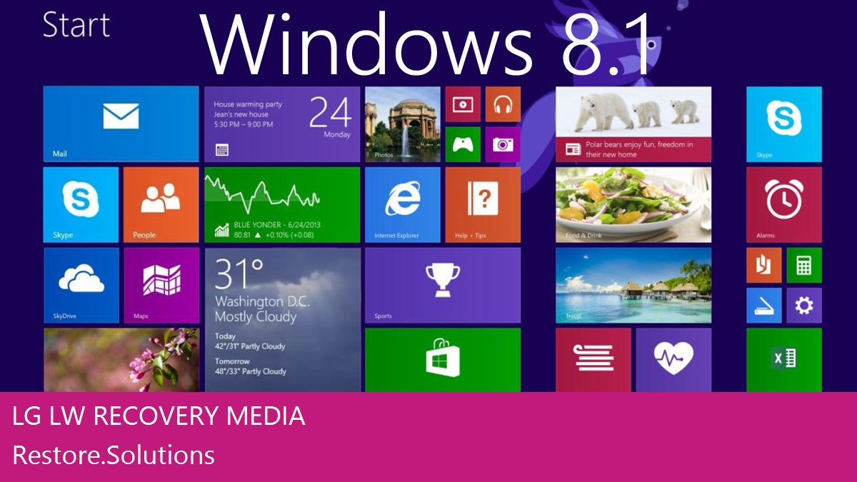 LG LW Windows® 8.1 screen shot