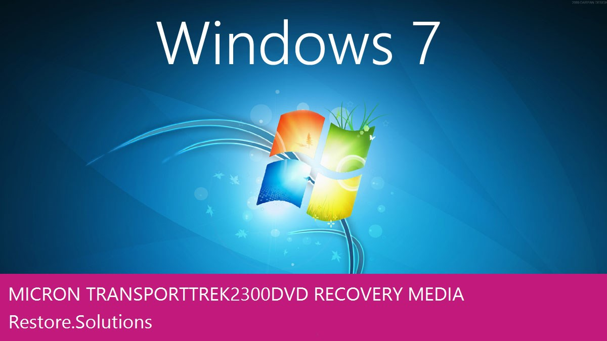 Micron Transport Trek2 300 DVD Windows® 7 screen shot