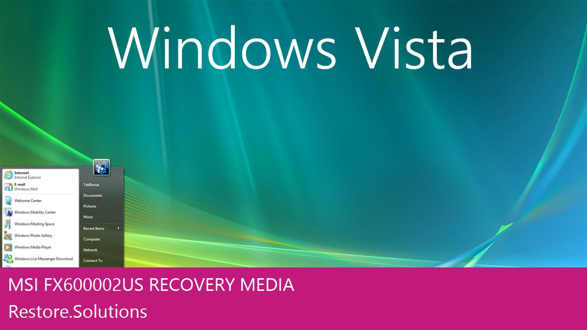 MSI FX600-002US Windows® Vista screen shot