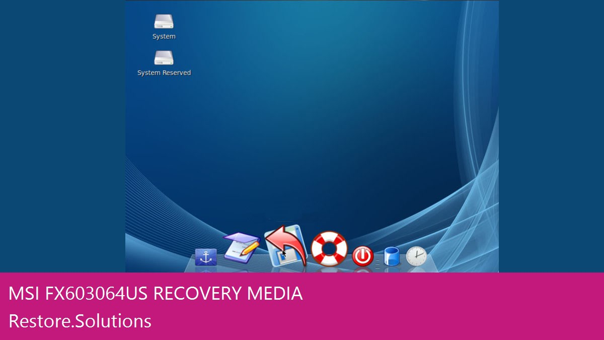 MSI FX603-064US data recovery