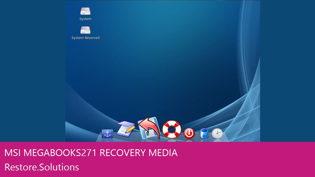 MSI MegaBook S271 data recovery