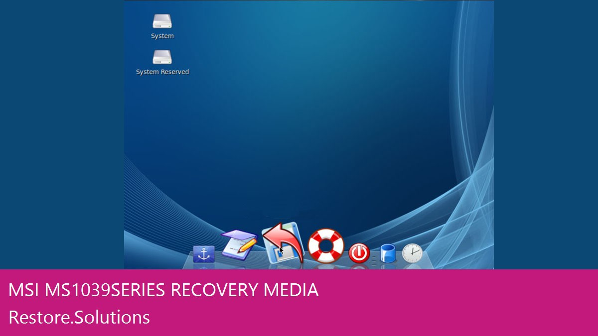 MSI MS1039 Series data recovery