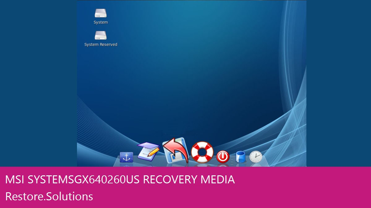 MSI Systems Gx640260us data recovery