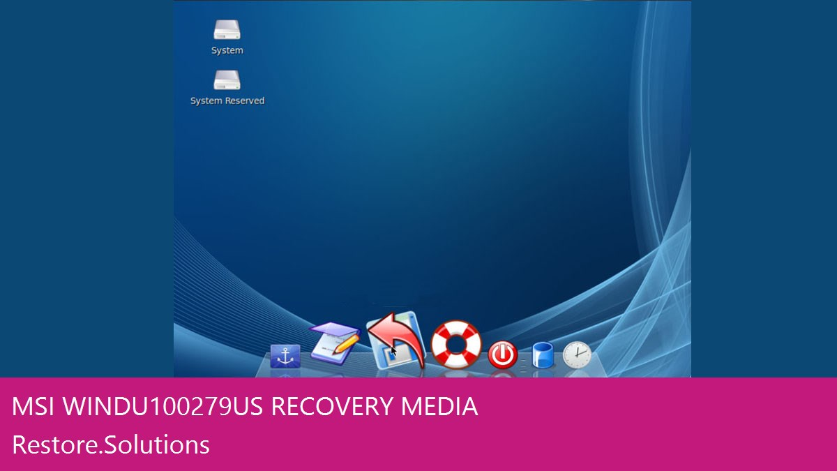 MSI Wind U100-279US data recovery
