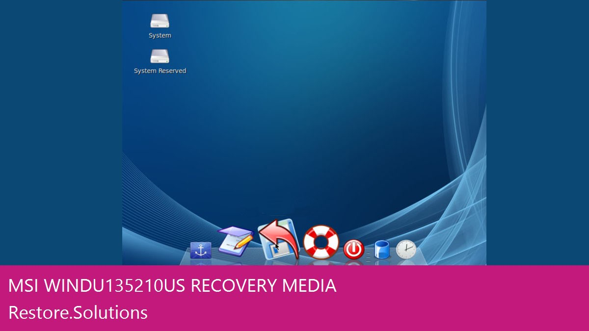 MSI Wind U135-210us data recovery