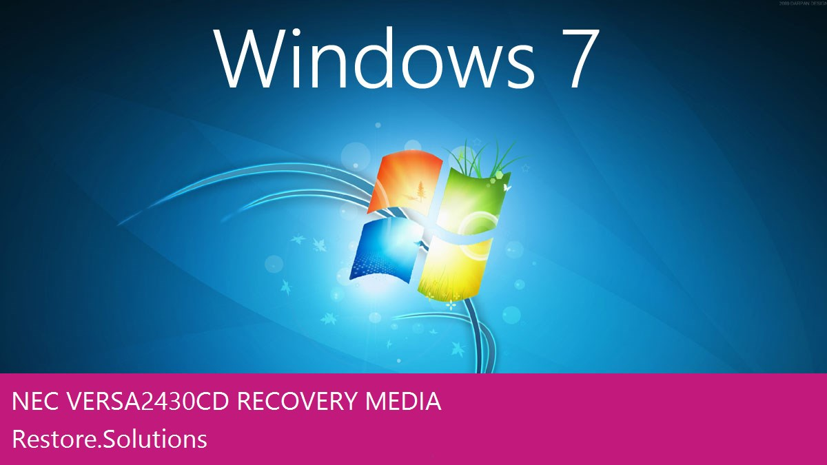 NEC Versa 2430CD Windows® 7 screen shot
