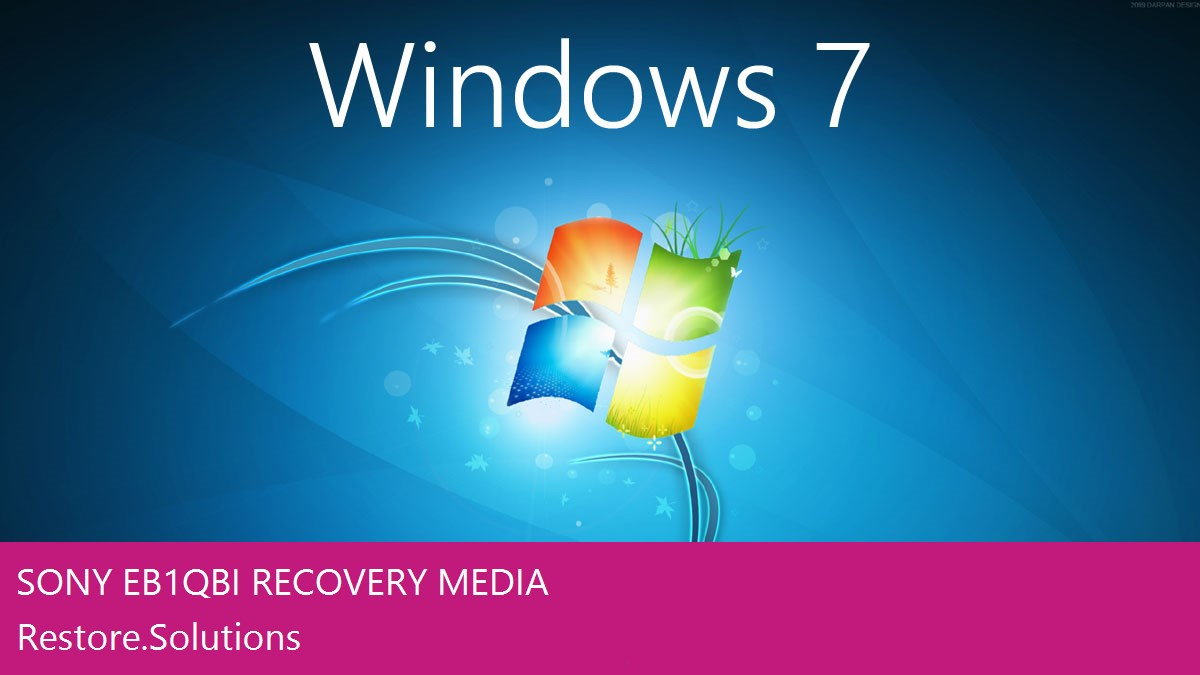 Sony EB1QBI Windows® 7 screen shot